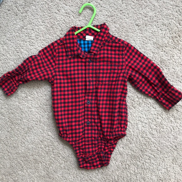 2fd9435d3 GAP One Pieces | Baby Boy Plaid Onesie | Poshmark